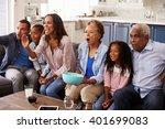 multi generation black family... | Shutterstock . vector #401699083