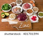 Foods With Zinc Mineral On A...