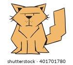 cartoon geometric cat   Shutterstock .eps vector #401701780