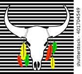 outlines the bull skulls with... | Shutterstock .eps vector #401704549
