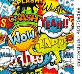 multicolored comics speech... | Shutterstock .eps vector #401706166