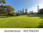 sydney's hyde park and distant... | Shutterstock . vector #401706244