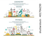 science banner concepts in line ... | Shutterstock . vector #401706250