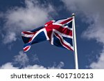 Union Flag Flying In Wind ...