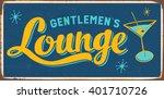 vintage metal sign   gentlemen... | Shutterstock .eps vector #401710726