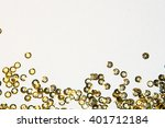 golden round sequins sewing on... | Shutterstock . vector #401712184