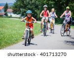 boy riding bicycle | Shutterstock . vector #401713270