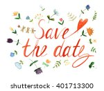 save the date invitation with... | Shutterstock . vector #401713300