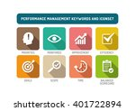 performance management flat... | Shutterstock .eps vector #401722894