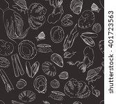 molluscs set vector... | Shutterstock .eps vector #401723563