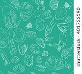 molluscs set vector... | Shutterstock .eps vector #401723590