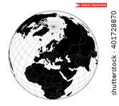 europe globe hemisphere. world... | Shutterstock .eps vector #401728870
