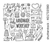 the hand drawn elements to... | Shutterstock .eps vector #401733580