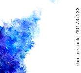 blue watercolor blot  | Shutterstock .eps vector #401735533