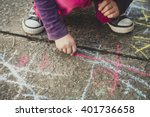 children playing with colored... | Shutterstock . vector #401736658