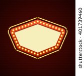 retro showtime sign design.... | Shutterstock .eps vector #401739460