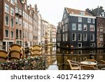 beautiful view of amsterdam... | Shutterstock . vector #401741299