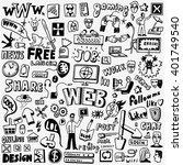 web doodles set | Shutterstock .eps vector #401749540