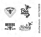 Vector Logo Set With Bee....