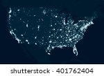 communications map of the... | Shutterstock .eps vector #401762404