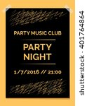 party poster  flyer. template | Shutterstock .eps vector #401764864