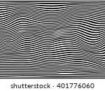 black and white striped wave... | Shutterstock .eps vector #401776060