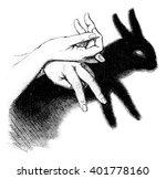 hare  vintage engraved... | Shutterstock . vector #401778160