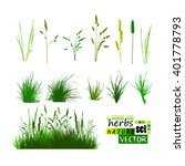 grass set. vector | Shutterstock .eps vector #401778793