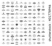 vintage logos design templates... | Shutterstock .eps vector #401778946