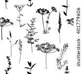 set grass. seamless background. ... | Shutterstock .eps vector #401779606