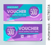 gift voucher template with a...   Shutterstock .eps vector #401780116