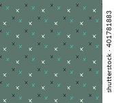 vector seamless pattern.... | Shutterstock .eps vector #401781883