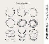 set of frames and wreaths  tree ...   Shutterstock .eps vector #401783818