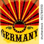 Germany Vintage Old Poster With ...