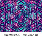 ethnic style background. tribal ... | Shutterstock .eps vector #401786410