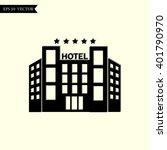 hotel vector icon | Shutterstock .eps vector #401790970
