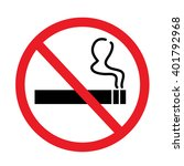 no smoking sign on white... | Shutterstock .eps vector #401792968