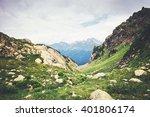 Rocky Mountains Landscape Gree...