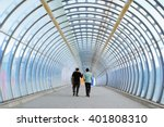 two businessman walking in the... | Shutterstock . vector #401808310