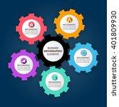 business infographics vector... | Shutterstock .eps vector #401809930