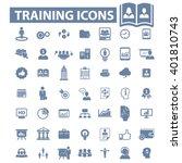training icons  | Shutterstock .eps vector #401810743