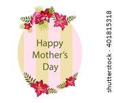 vintage floral frame | Shutterstock .eps vector #401815318