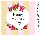 vintage floral frame card... | Shutterstock .eps vector #401815324