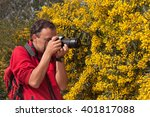 nature photographer at work in... | Shutterstock . vector #401817088