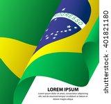 brazil waving flag background ... | Shutterstock .eps vector #401821180