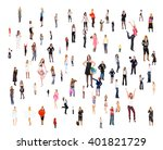 corporate teamwork isolated... | Shutterstock . vector #401821729