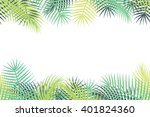 time of summer vacation. vector ... | Shutterstock .eps vector #401824360
