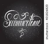 flourish hand written... | Shutterstock .eps vector #401826820