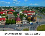 aerial view of city with tilt... | Shutterstock . vector #401831359