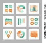big set of flat vector... | Shutterstock .eps vector #401831758
